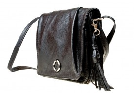 A beautiful bag from black leather